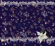 Christmas card. Decorative Christmas card, vector illustration Stock Images