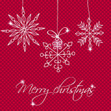 Christmas card with decorrations and greetings eps10 Stock Photography