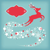 Christmas card with deer Stock Photography