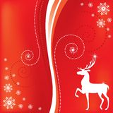 Christmas card with a deer Stock Photo