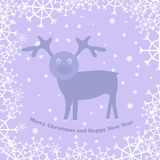 Christmas card with deer Royalty Free Stock Image