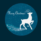 Christmas card with deer Royalty Free Stock Photography