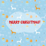 Christmas card with deers pattern Stock Photos