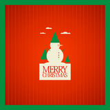 Christmas card design. Royalty Free Stock Photo