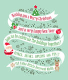 Christmas card design background Royalty Free Stock Images