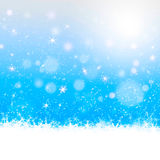 Christmas card design in blue background Royalty Free Stock Photography