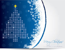 Christmas card design in blue color Stock Photo