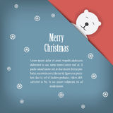 Christmas card design with cute white polar bear Royalty Free Stock Photos