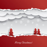 Christmas card design cutout Stock Image
