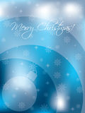 Christmas card design with decoration and snow Royalty Free Stock Photo