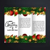 Christmas card design with elegant design and creative backgroun stock illustration
