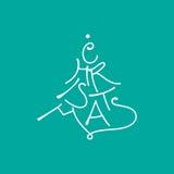 Christmas card design Stock Photography