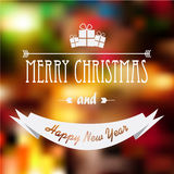 Christmas card design with glowing blurred Royalty Free Stock Images