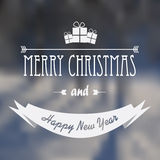Christmas card design with glowing blurred Royalty Free Stock Photography