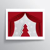 Christmas card design Royalty Free Stock Image