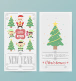 Christmas card design Layout template Royalty Free Stock Photography