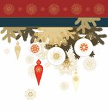 Christmas card design Royalty Free Stock Photos