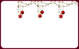 Christmas card design stock illustration