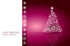 Christmas card design vector Stock Image