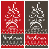Christmas card   design Stock Photography