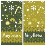 Christmas card   design Stock Image