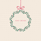 Christmas card design Stock Photos
