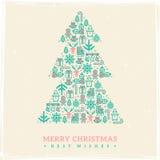 Christmas card design. Vector illustration. New Stock Photo