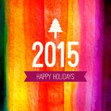 2015 Christmas card design. Xmas label with Royalty Free Stock Photos