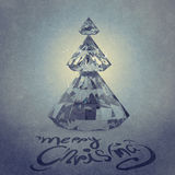 Christmas card with Diamonds Christmas tree Royalty Free Stock Images