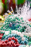Christmas card with diamonds, new year decoration, close up Stock Photo