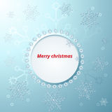 Christmas card with different snowflakes Royalty Free Stock Image
