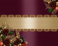 Christmas Card elegant greeting Stock Photography