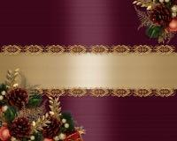 Christmas Card elegant greeting Stock Photography