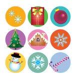 Christmas card element set Royalty Free Stock Photos