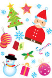 Christmas card element set Stock Image
