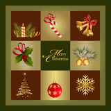 Christmas Card. Elements for Christmas design Royalty Free Stock Images