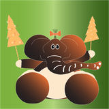 Christmas card with elephant Royalty Free Stock Photography