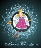 Christmas card with elf2 Royalty Free Stock Image