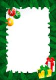 Christmas card with empty blank for text Royalty Free Stock Photos