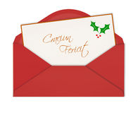 Craciun fericit greeting card merry christmas in romanian pattern christmas card in an envelope stock photos m4hsunfo
