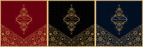 Christmas card envelope set. Vector. Royalty Free Stock Images