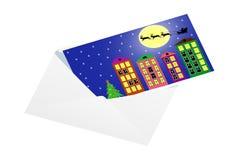 Christmas card in an envelope. Vector illustration vector illustration