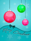 Christmas card, eps and JPEG. Christmas card, red, pink, green balls Stock Photo