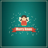 Christmas card with fairy. Stock Image