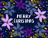 Christmas card with fir tree Royalty Free Stock Photo