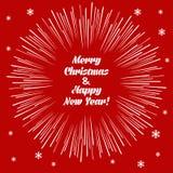Christmas card with firecracker Stock Photos