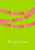 Christmas card with flags Stock Photos