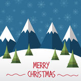 Christmas card  in flat style Royalty Free Stock Photo