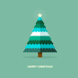 Christmas card - flat vector Illustration Royalty Free Stock Photography
