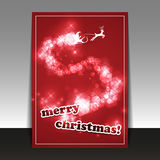 Christmas Card - Flyer or Cover Design Template Royalty Free Stock Photo
